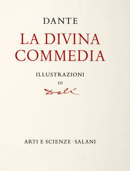La Divina Commedia. Illustrazioni di Dalì.