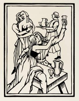 Les oeuvres de Maistre...Les Lais-Le Testament-Poésies diverses, présentées dans leur texte définitif par Albert Pauphilet et ornées de bois gravés par Ch. Picart Le Doux.