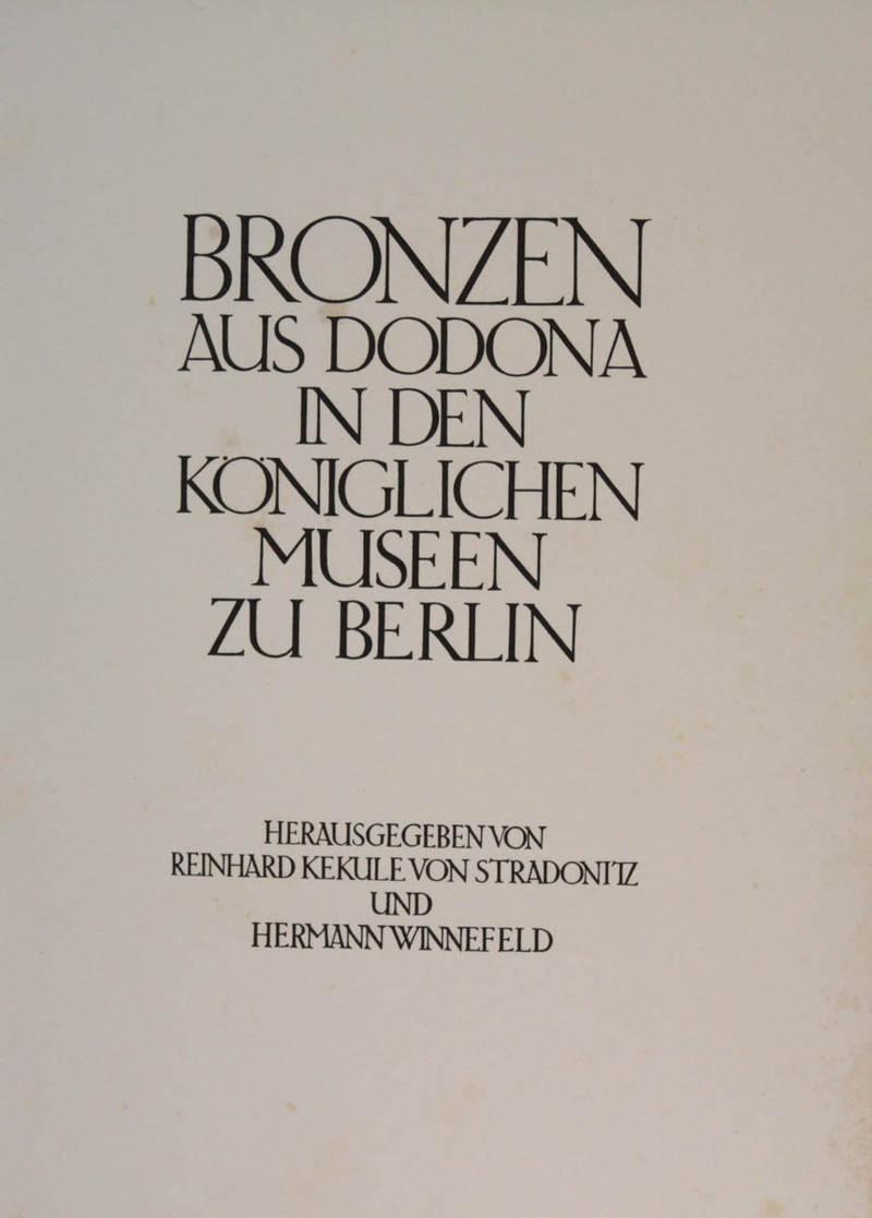 Bronzen aus Dodona in den königlichen Museum zu Berlin.