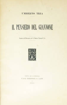 Il pensiero del Giannone. (Estr.).