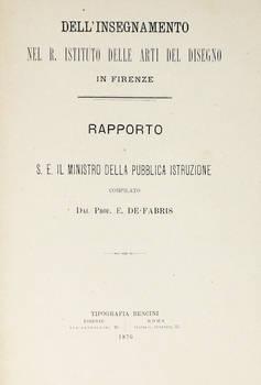 Dell'insegnamento nel R. Istituto delle Arti del disegno in Firenze. Rapporto a S.E. il Ministro della Pubblica Istruzione.