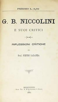 G.B. Niccolini e i suoi critici. Riflessioni critiche.