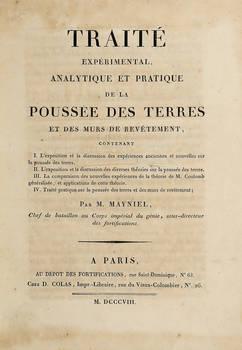 Traité experimental, analytique et pratique de la poussée des terres et des murs de revêtement.