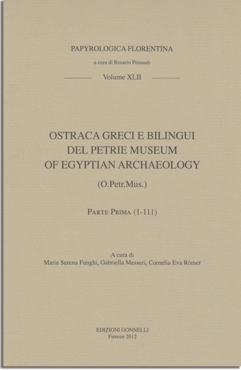OSTRAKA GRECI E BILINGUI DEL PETRIE MUSEUM.