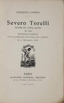 Severo Torelli. Drame en cinq actes en vers.