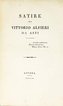 Satire di Vittorio Alfieri da Asti.