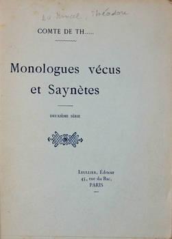 Monologues vécus et saynètes. Deuxième série.