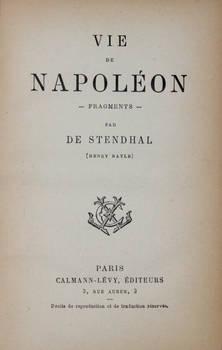 Vie de Napoléon.