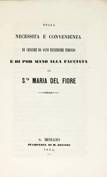 CENTENARIO (IL) di Dante e la facciata di S. Maria del fiore.