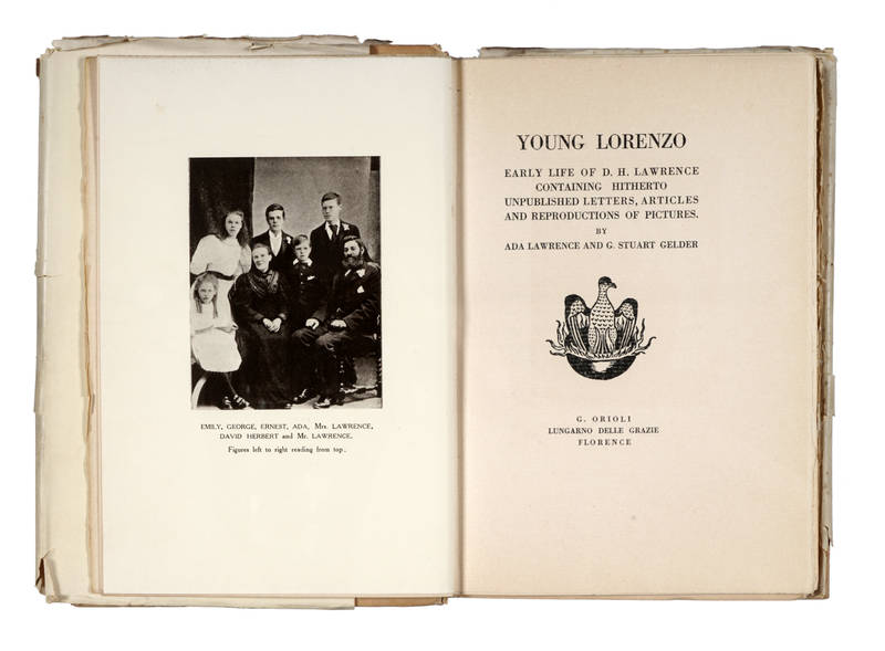 Young Lorenzo. Early life of D. H. Lawrence containing hitherto unpublished letters, articles and reproductions of pictures....