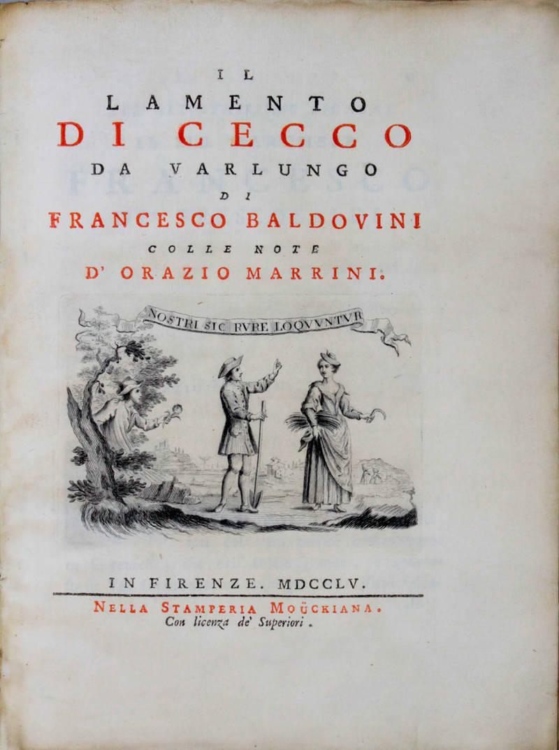 Il Lamento di Cecco da Varlungo, colle note d'Orazio Marrini.