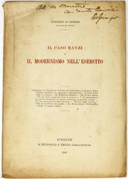 Il caso Ranzi e il modernismo nell'esercito.
