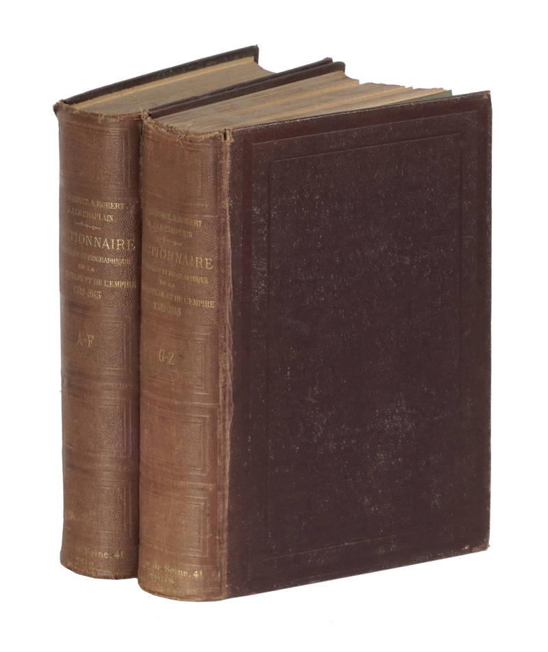 Dictionnaire historique et biographique de la Revolution et de l'Empire 1789-1815.
