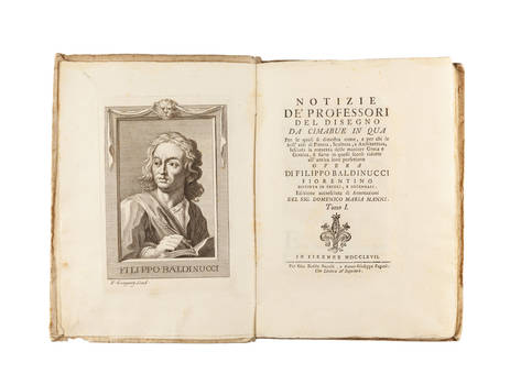 Notizie de' Professori del Disegno da Cimabue in qua...Edizione accresciuta di Annotazioni del Sig. Domenico Maria Manni. Tomo I (-XXI).