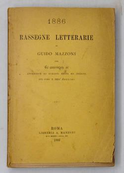 Rassegne letterarie con Gl'Irrevocati dì. Appendice di scritti editi ed inediti sul coro dell'Adelchi.