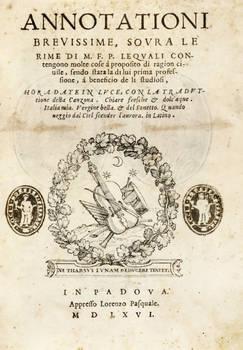 Annotationi brevissime, sovra le Rime di F(rancesco) P(etrarca)...lequali contengono molte cose...