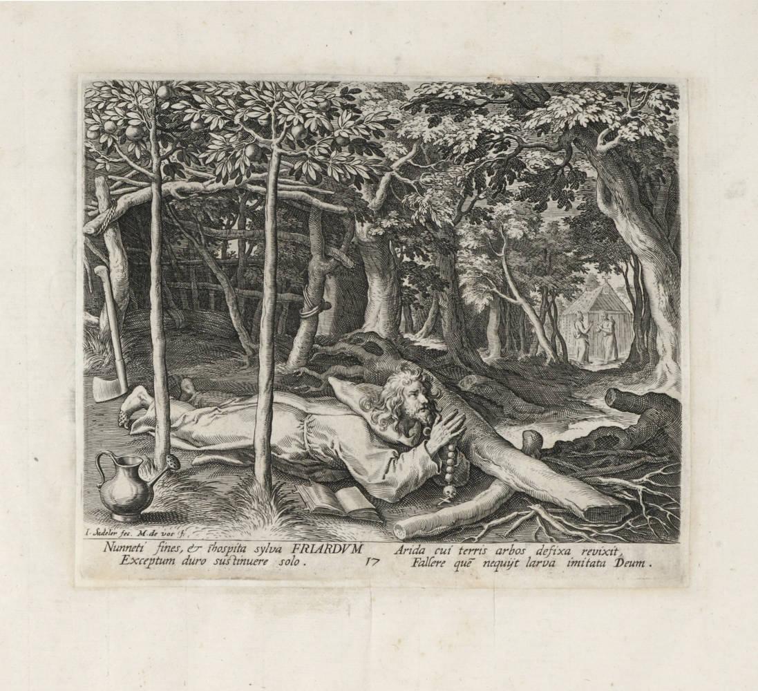 (Vitae Patrum). 1594-1600. Da (Martin De Vos).