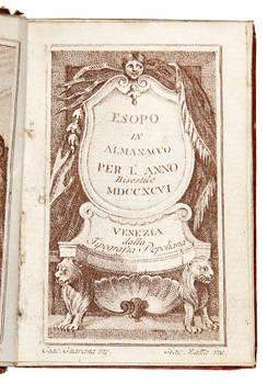 ESOPO/ In/ Almanacco/ Per L'Anno/ Bisestile/ MDCCXCVI/.