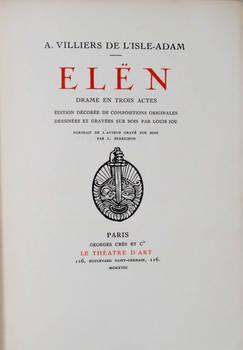 Elën. Drame en trois actes. Édition décorée de compositions originales dessinées et gravées sur bois par Louis Jou.