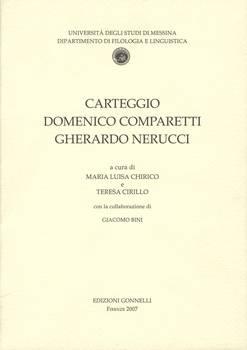Carteggio Domenico Comparetti - Gherardo Nerucci.