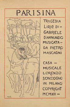 Parisina. / Tragedia / Lirica Di- / ...Musicata / Da Pietro / Mascagni / Casa Musicale / Lorenzo / Sonzogno.