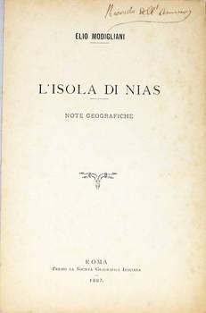 L'isola di Nias. Note geografiche.