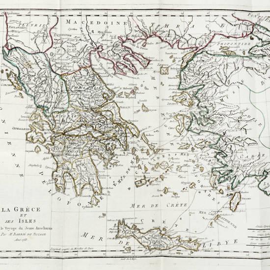 Recueil de cartes geographiques, plans, vues et maedailles de l'ancienne Grece, relatifs au voyage de jeune Anarcharsis....