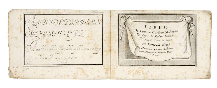 Libro di lettere Corsiue Moderne. Per uso de Scolari Fanciuli. Nuouam. te dato in Luce.