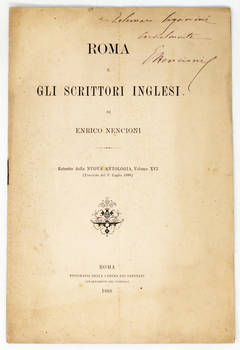 Roma e gli scrittori inglesi. (Estr.).