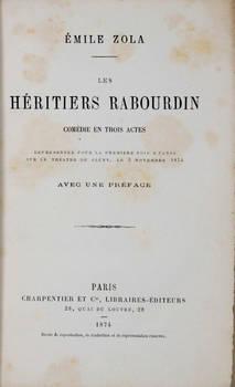 Les héritiers Rabourdin. Comédie en trois actes..