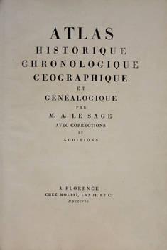 Atlas historique chronologique géographique et généalogique, avec correction et additions.