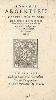 De consultationibus Medicis sive (vt vulgus vocat) de Collegiandi ratione Liber.