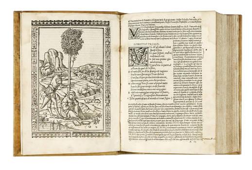 Li Sonetti Canzone e Triumphi del Petrarcha con li suoi commenti...