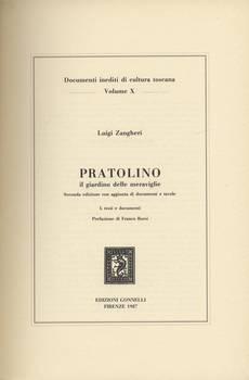 PRATOLINO IL GIARDINO DELLE MERAVIGLIE II edizione accresciuta di tavole e di testo
