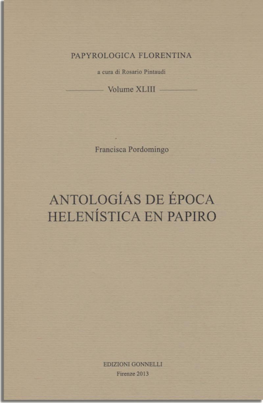 Antologías griegas de época helenística en papiro.