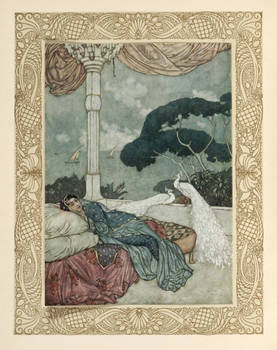 Rubaiyat of Omar Khayyam. Rendered into English Verse by Edward Fitzgerald with illustrations by Edmund Dulac. Printed from the second edition.