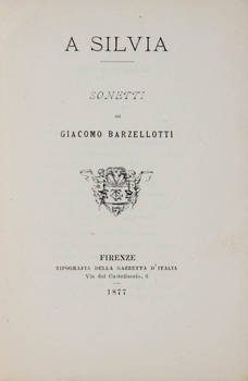 A Silvia. Sonetti.