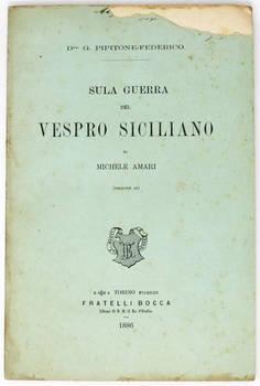 Sulla guerra del Vespro Siciliano di Michele Amari (Edizione IX).