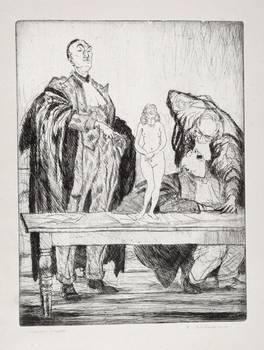 GLI AVVOCATI - Otto acqueforti di Francesco Chiappelli. Presentazione di Piero Calamandrei.