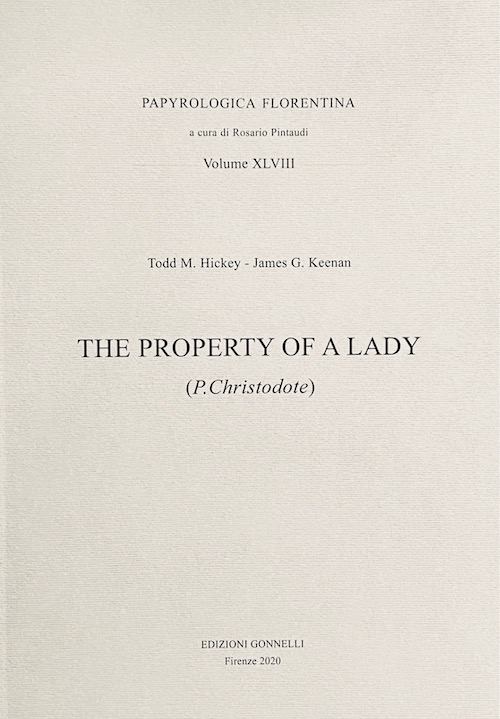 The Property of a Lady (P. Christodote).